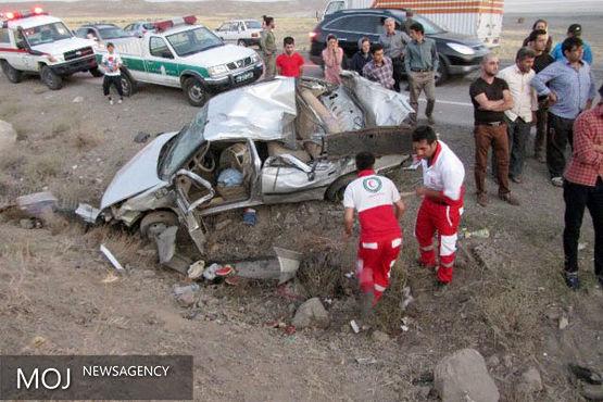۹ کشته در ۴ تصادف تعطیلات آخر هفته