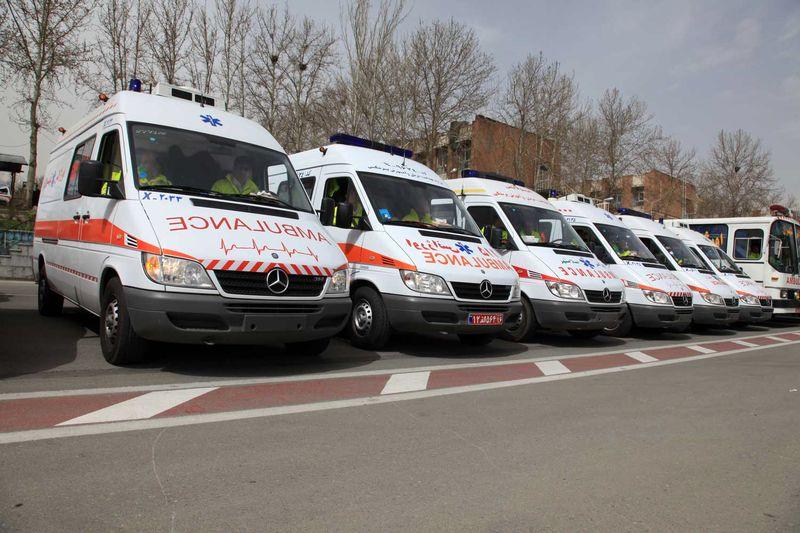 خدمت رسانی اورژانس تهران برای راهپیمائی 13 آبان