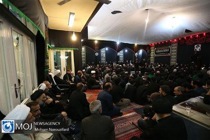 عزاداری ظهر تاسوعای حسینی (ع) در بیوت مراجع و علمای قم