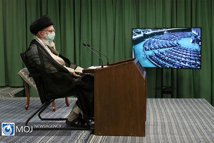 ارتباط تصویری مقام معظم رهبری با نمایندگان مجلس