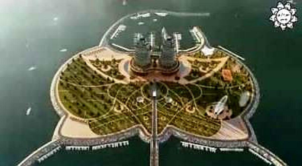 احداث نخستین جزیره مصنوعی کشور در دریای خزر