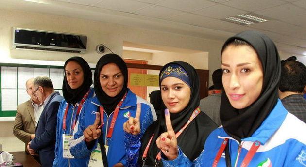 کاروان ورزشی ایران از باکو در انتخابات شرکت کرد