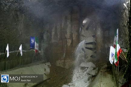 مراسم ورود ماشین حفار تونل توسعه جنوبی خط ۶ مترو