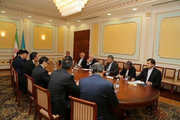ظریف با وزیر خارجه قزاقستان دیدار کرد
