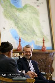 دیدار وزیر خارجه عمان با رییس مجلس شورای اسلامی