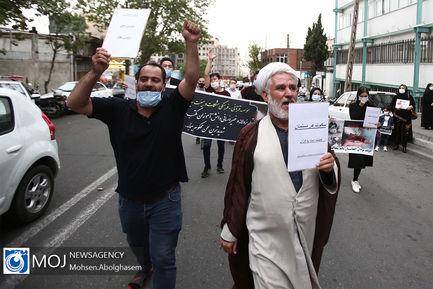 یادبود شهدای دانشآموز کابل مقابل سفارت افغانستان در تهران