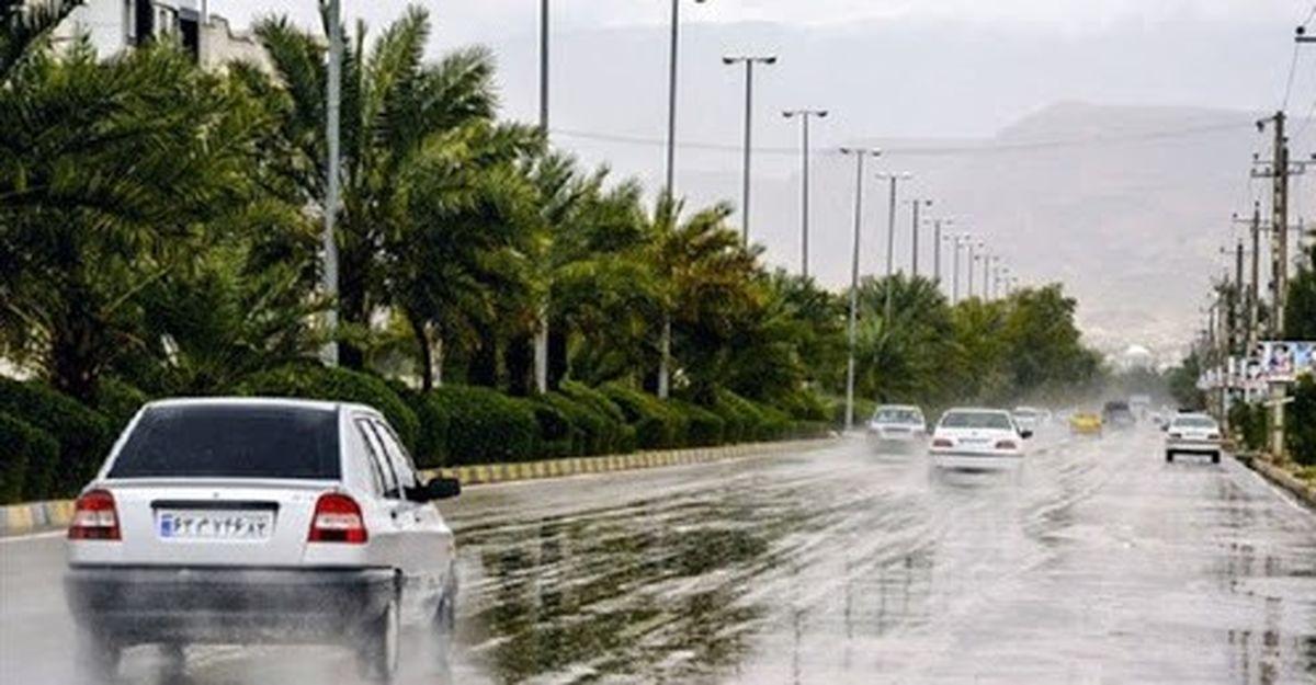 بارش باران در جادههای ۶ استان کشور
