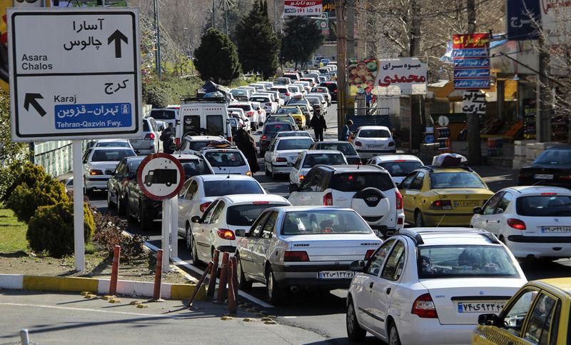 تردد در جاده چالوس یکطرفه شد
