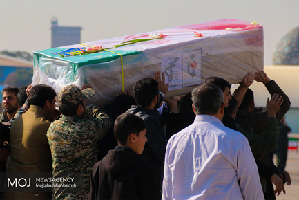 ورود پیکر شهدای حادثه تروریستی سیستان به اصفهان