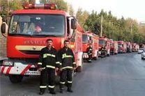 استقرار آتشنشانان داوطلب در صحن حرم رضوی در لیالی قدر