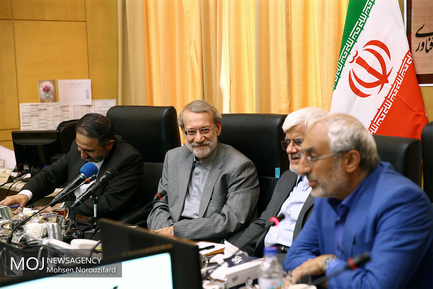 جلسه کمیسیون آموزش مجلس با حضور علی لاریجانی