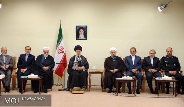 رئیس جمهور و اعضای هیأت دولت با رهبر معظم انقلاب دیدار کردند