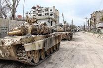 ارتش سوریه تانک های تروریست ها را در زبدانی از بین برد