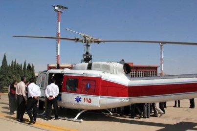 نجات زن باردار الیگودرزی با اورژانس هوایی
