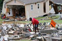 کشته و ناپدید شدن مردم در توفان و سیل آمریکا