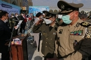 مراسم صبحگاه مشترک نیروهای مسلح در مسجد جمکران برگزار شد