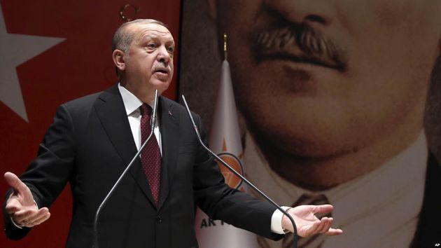 پرچم ترکیه در عفرین برافراشته شد
