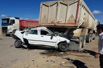 3 کشته در تصادف مرگبار سواری پراید با کامیون در محور چوپانان