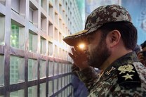 فرماندهان قرارگاه پدافند هوایی با آرمانهای امام(ره) تجدید میثاق کردند