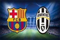 پخش زنده بازی بارسلونا و یوونتوس از شبکه سه سیما