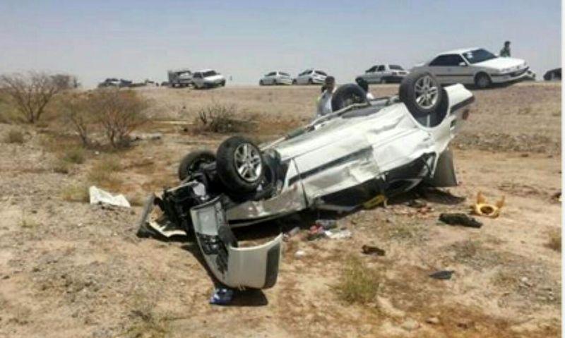 خودرویی بر اثر واژگونی در گنبد ۴ مصدوم بر جای گذاشت