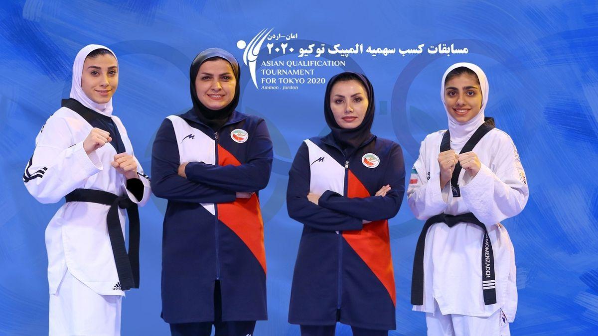 دختران تکواندو ایران برای کسب سهمیه المپیک توکیو راهی اردن می شوند