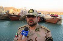 توقیف دو فروند لنج صیادی غیرمجاز در ابوموسی / 10 متهم ایرانی و پاکستانی دستگیر شدند