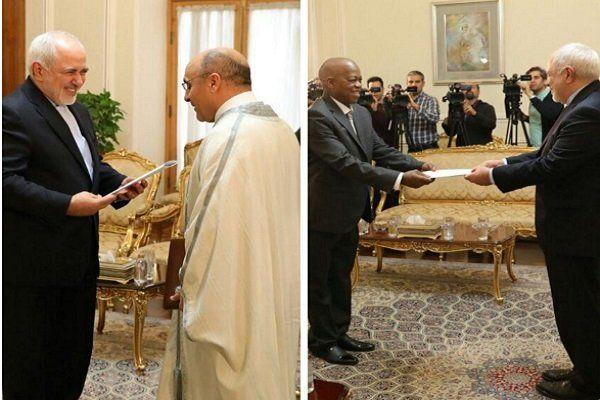 رونوشت استوارنامه سفیران تونس و سیرالئون به ظریف تقدیم شد
