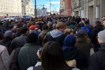 تظاهرات مخالفان پوتین در شهرهای مختلف روسیه
