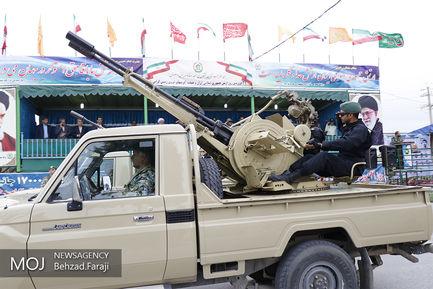رژه یگان های نمونه ارتش در کرمانشاه