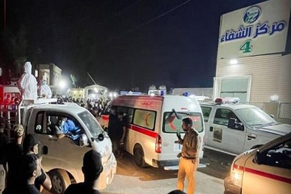 شمار قربانیان آتش سوزی بیمارستان عراق به ۱۲۴ نفر افزایش یافت