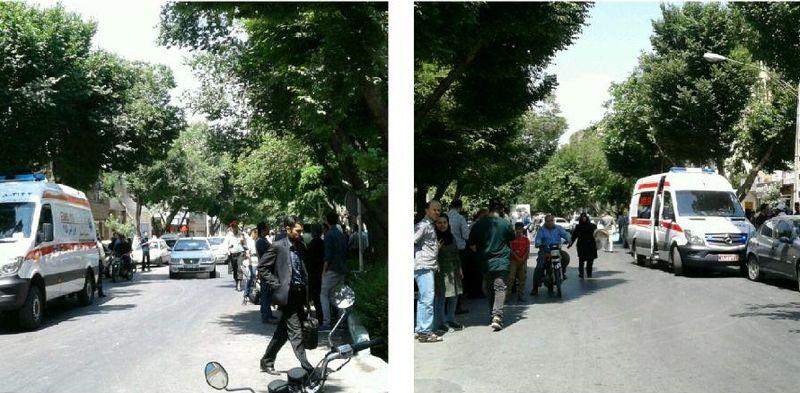 برخورد خودرو با چند نفر در خیابان نیکبخت اصفهان