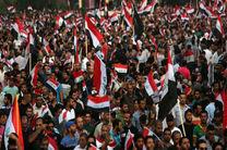 تظاهرات گسترده مردم عراق در پاسخ به فراخوان مقتدی صدر