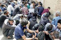 دستگیری 308 توزیع کننده و معتاد متجاهر در اصفهان