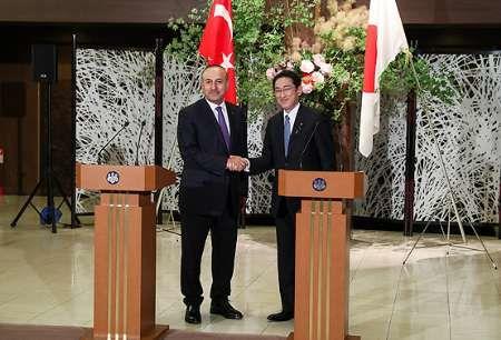 وزرای امور خارجه ترکیه و ژاپن در توکیو دیدار و مذاکره کردند