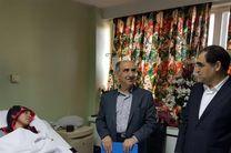 عیادت وزیر بهداشت از کیمیا علیزاده