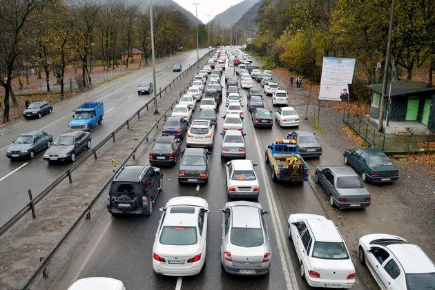 هراز یک طرفه شد/افزایش حجم ترافیک محورهای منتهی به پایتخت