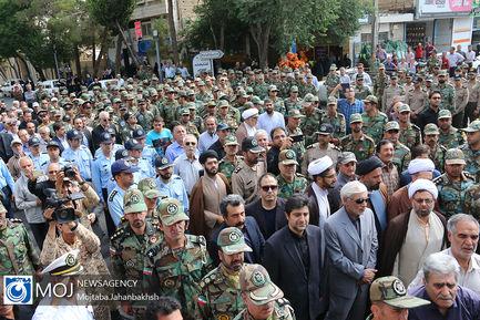 تشییع پیکر سرتیپ احمد ترکان در اصفهان