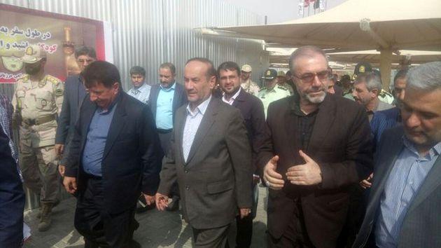 بازدید رئیس ستاد مرکزی اربعین از پایانه مرزی مهران