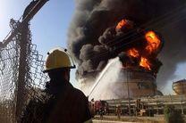 آتش سوزی پتروشیمی آبادان 18 مصدوم و یک فوتی در برداشت