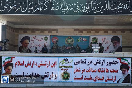 مراسم رژه خدمت یگان های ارتش در کرمانشاه