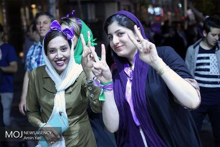 شادی مردم پس از انتخابات