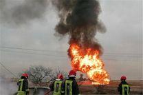 2 مصدوم در اثر انفجار مرکز پخش گاز مایع در نجف آباد