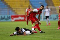 نتیجه بازی نفت مسجدسلیمان و پرسپولیس در نیمه نخست