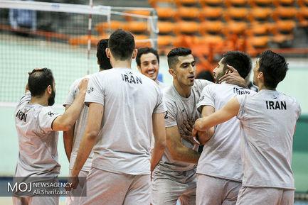 آخرین جلسه تمرین تیم ملی والیبال