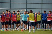 تمرینات سنگین ریزه اسپور در اردوی اتریش