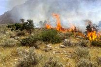 مهار آتش سوزی 6 هکتار از مراتع جعفر آباد  در شهرستان لنجان