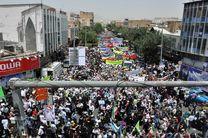 دوشادوش مردم انقلابی شیراز، در راهپیمایی روز جهانی قدس شرکت می کند