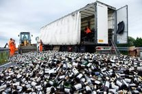 امحا بیش از ۹ هزار قوطی مشروبات الکلی در میناب