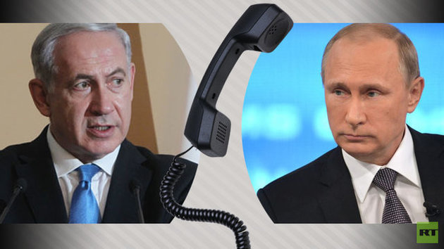 گفتگوی تلفنی پوتین و نتانیاهو در مورد حملات آمریکا به سوریه